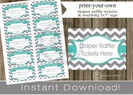 baby shower diaper raffle tickets matching sign teal 128270zoom