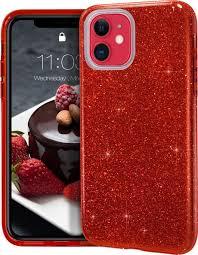 Защитный <b>чехол</b> блестками для Apple iPhone 11, Красный
