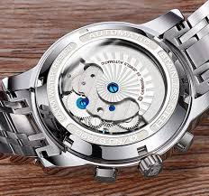 <b>CARNIVAL</b> Mens tourbillon <b>Automatic Mechanical Watch</b> Silver
