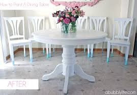 Colored Dining Room Sets A Bubbly Life How To Paint A Dining Room Table Amp Chairs Makeover