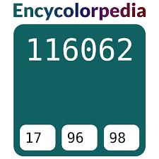 <b>Тёмно</b>-<b>бирюзовый</b> / #116062 Схемы Шестнадцатеричных Кодов ...