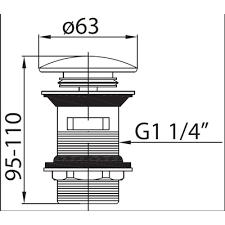 <b>Cezares Articoli</b> Vari CZR-SAT1-02 <b>донный клапан</b> для раковины ...