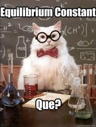 Equilibrium Constant Que? - Chemistry Cat - quickmeme via Relatably.com