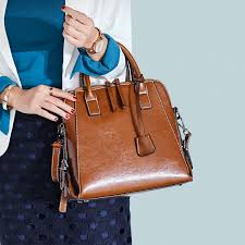 Titirui Leather Handbags <b>European And American Fashion</b> Retro ...