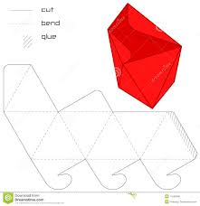 template present box red cut square casket royalty stock template present box red hedra cut triangle royalty stock photos
