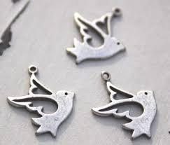 <b>3 x Antique Silver</b> Bird Charms   Etsy
