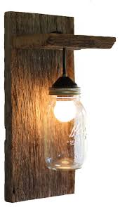wood mason jar light fixture without rope detail rustic wall sconces barn lighting create rustic