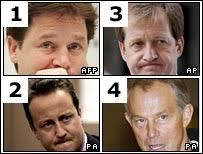 Clegg, Cameron, Campbell and Blair - hair2