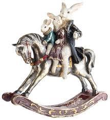 Купить <b>Статуэтка</b> KARLSBACH Качалка с кроликами, <b>30 см</b> ...