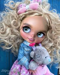 "Custom <b>Blythe Doll</b> OOAK - ""Hanna"" by DBlueDolls. 