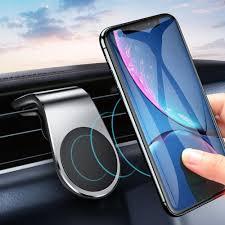 <b>Metal Magnetic Car Phone</b> Holder Mini Air Vent Clip Mount Magnet ...