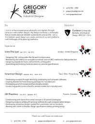 resume greg kore industrial designer