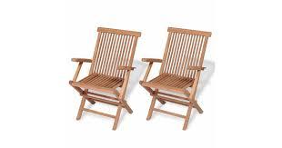 Folding <b>Garden Chairs 2 pcs</b> Solid Teak Wood - Matt Blatt