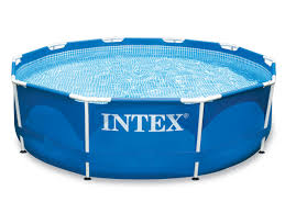 Бассейн <b>Intex Metal Frame</b>, 28200, голубой, <b>305х76</b> см, 4485 л ...