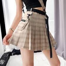<b>High waist a word</b> soft sister skirt college wind sports girl skirt from ...