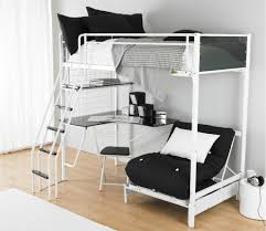 lovely loft beds for teenagers in white with stair and desk on wooden floor with white accessoriesbreathtaking cool teenage bedrooms