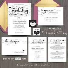 wedding celebration invitation templates printable stationery wedding celebration invitation templates