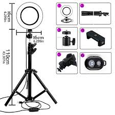 <b>16cm</b> 72LED Selfie <b>Ring Lamp Led Ring Light</b> Selfie With Tripod ...