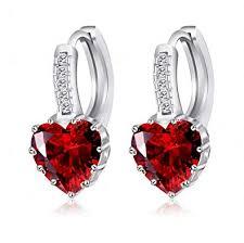 Amazon.com: megko <b>925 Sterling Silver Heart</b> Cubic Zirconial ...