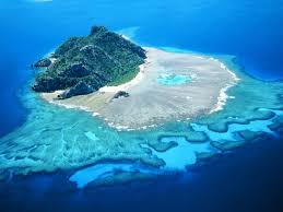 Turtle island in Fiji