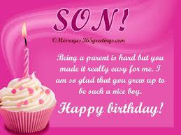 Birthday Wishes for Son Messages, Greetings and Wishes - Messages ... via Relatably.com