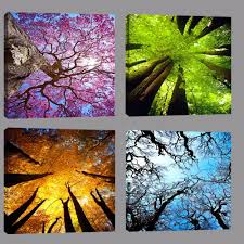 HD Printed Poster Decor <b>For</b> Living Room <b>4 Pieces Beautiful</b> ...
