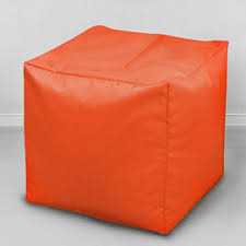 <b>Пуфик бескаркасный Кубик</b> Апельсин, оксфорд - <b>MyPuff</b>