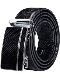 Barry.Wang <b>Mens Formal Belt</b>, Full Grain <b>Leather</b> with Automatic ...