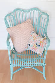 brown wicker outdoor furniture dresses: a wicker chair makeover using pale turquoise pinty plus aerosol chalk paint