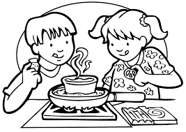 Small Picture Cooking Coloring Page Cooking Clipart Coloring Pages No People
