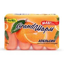 <b>ГРАНД ШАРМ Туалетное мыло</b> 4х90г Апельсин - купить в Сочи по ...