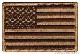 AMERICAN FLAG <b>EMBROIDERED PATCH</b> iron-on <b>US</b> DESERT ...