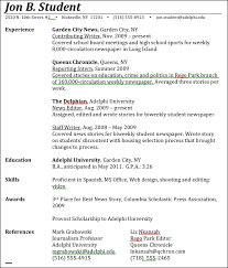 journalism advice  how to write a journalism resumehere    s a sample resume