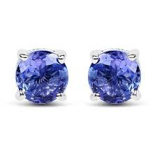 Round Tanzanite .<b>925 Sterling Silver</b> Earring & Pendant Gift Set ...