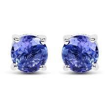 Round Tanzanite .<b>925 Sterling Silver</b> Earring & Pendant Gift Set ...