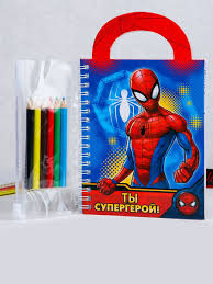 <b>Блокнот</b> с раскраской, Человек-паук <b>Marvel</b> 9504120 купить за ...