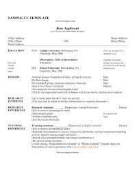 sample resume teacher curriculum vitae sample template sample resume template