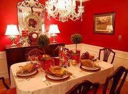 dining table set orange theme