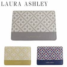 Hold all three colors of <b>Laura Ashley card case</b> Lady's genuine ...