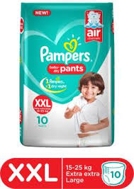 Pampers Baby-Dry Pants Diaper - XXL - Buy 10 Pampers Pant ...