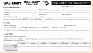 job application forms ledger paper walmart job application printable job employment forms