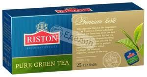 <b>Чай зеленый Riston Pure Green</b> в пакетиках, 25 шт. — Едадил