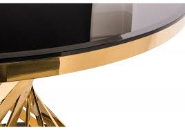 Купить обеденный <b>стол WOODVILLE TWIST GOLD / BLACK</b> в ...