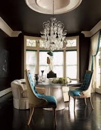 image dining room modern paint black paint for wall and ceiling design large crystal chandelier vinta