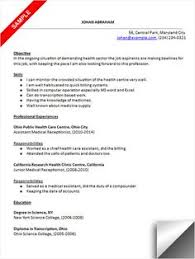 images about resume on pinterest   resume  medical and    medical receptionist resume sample