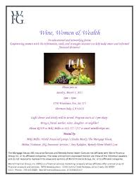 valley networking wine women and wealth forum in sherman oaks