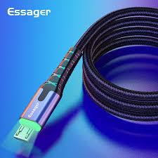 <b>Essager LED</b> Micro <b>USB</b> Cable <b>3m</b> 2.4A Fast Charging For ...