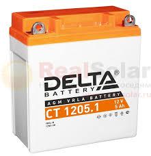 <b>Аккумулятор Delta CT</b> 1205.1 - 12v 5Ah купить, доставка