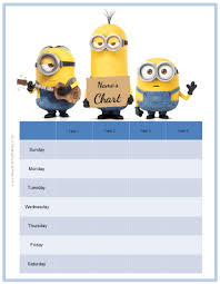 behavior charts the minions potty training chart customize