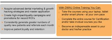 dental marketing assistant university dmau online training dmau what s included in the dental marketing assistant university program from growth hacker central